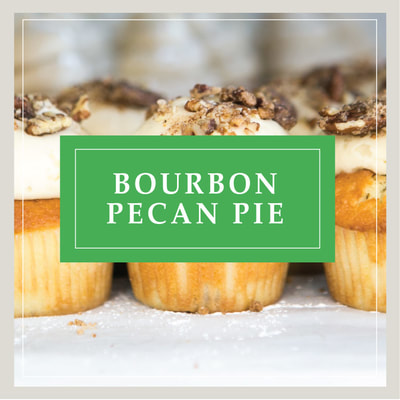 The Bourbon Pecan Pie cupcake, an After Dark alcohol-infused cupcake, at Cupcake DownSouth, a dessert bakery in Charleston, SC and Columbia, SC